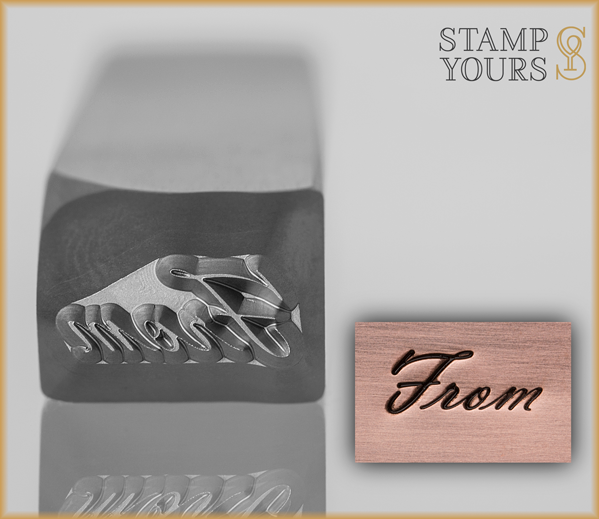 """From"" Word Design Stamp 4mm - Stamp Yours"