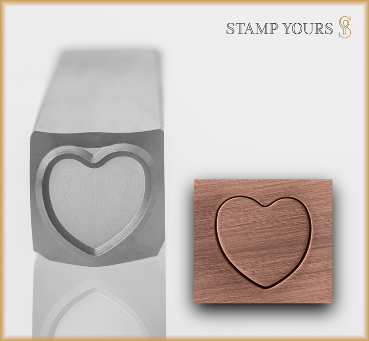 Candy Heart Outline - Stamp Yours