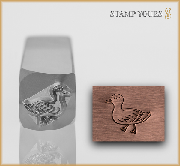 Mother Duck Metal Design Stamp - Stamp Yours
