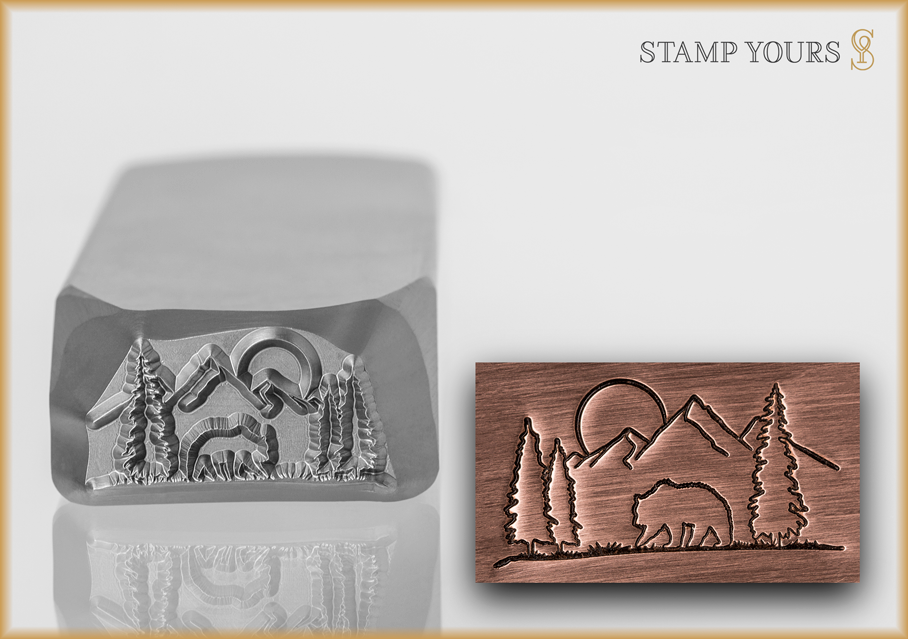 Wilderness Scene - Stamp Yours