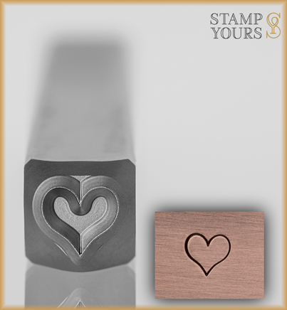 Heart Style 1 Design Stamp 4mm - Stamp Yours