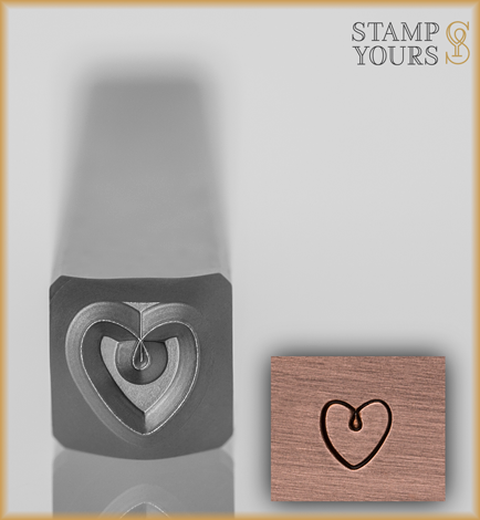 Heart Style 2 Design Stamp 4mm - Stamp Yours