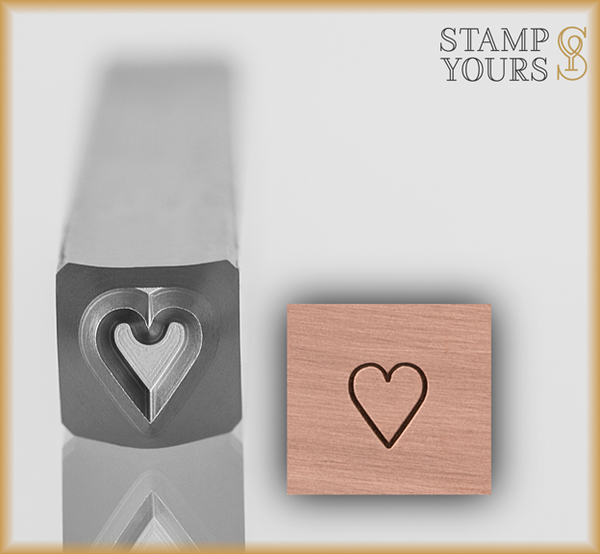 Heart Suit Design Stamp 4mm - Stamp Yours