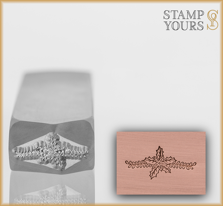 Holly Flower Accent - Stamp Yours