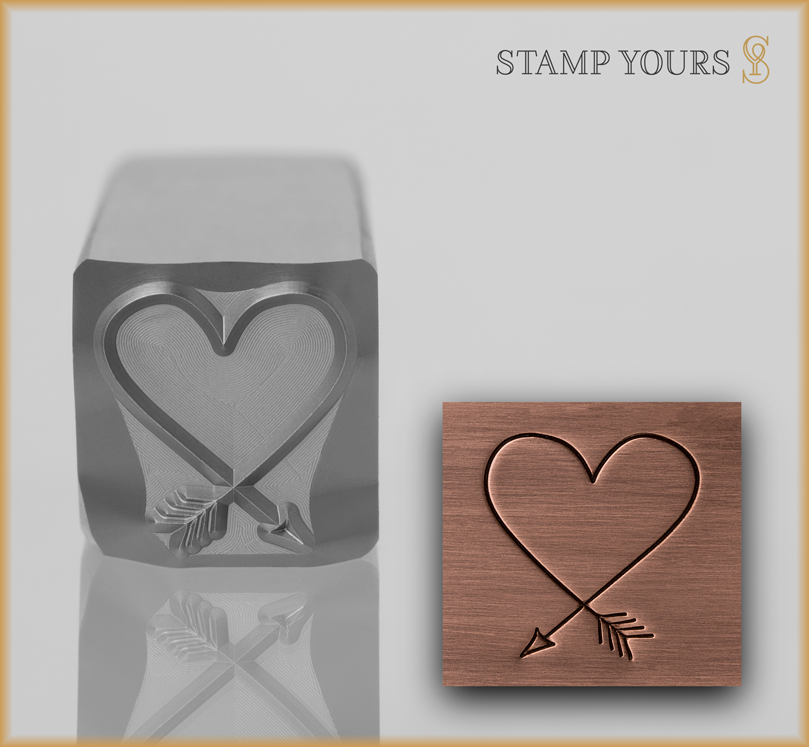 Large Heart Design - Stamp Yours