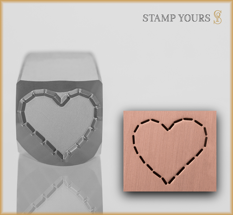 Stitched Heart - Stamp Yours
