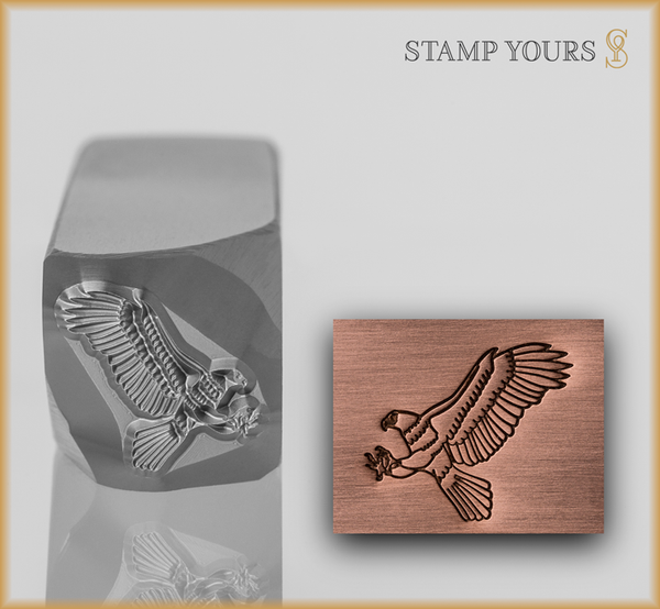 Stamp Yours Soaring Eagle Metal Design Stamp