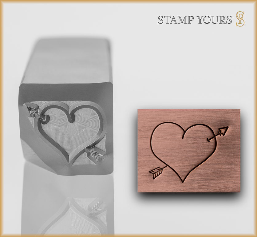 Heart with Arrow - Stamp Yours