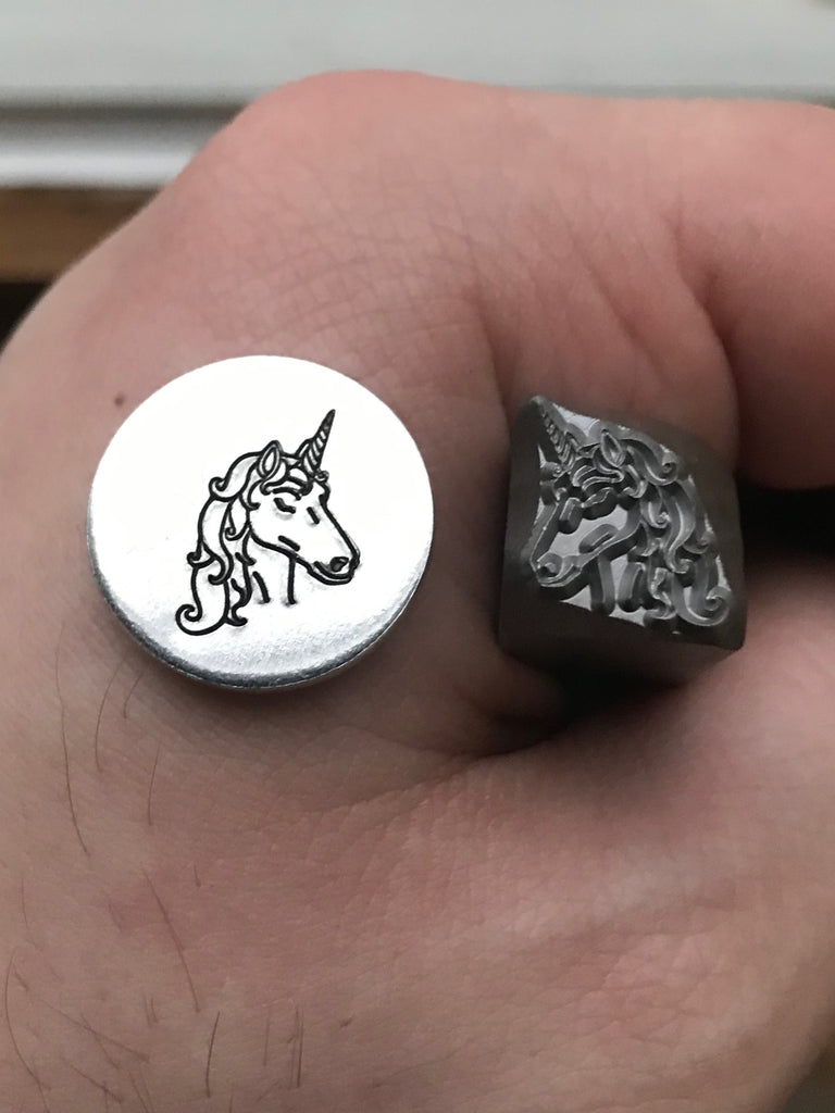 Unicorn Metal Stamp