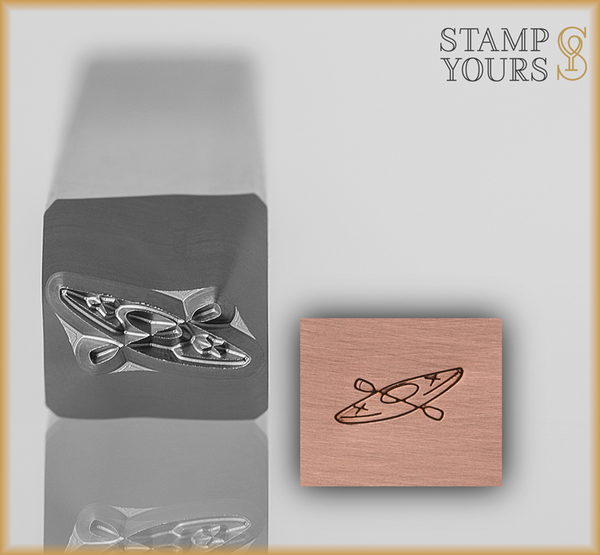 Kayak Design Stamp 3.5mm - Stamp Yours