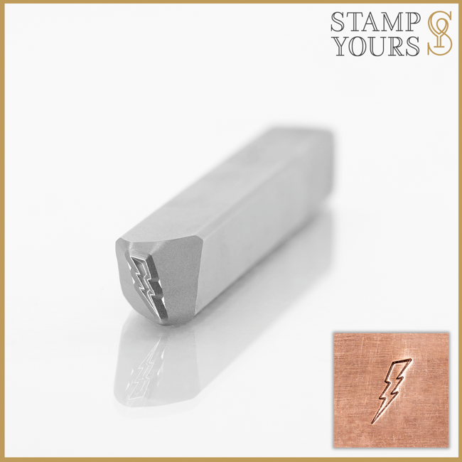 Lightning Bolt Metal Stamp Design For Stainless Steel and Jewelry By Stamp Yours