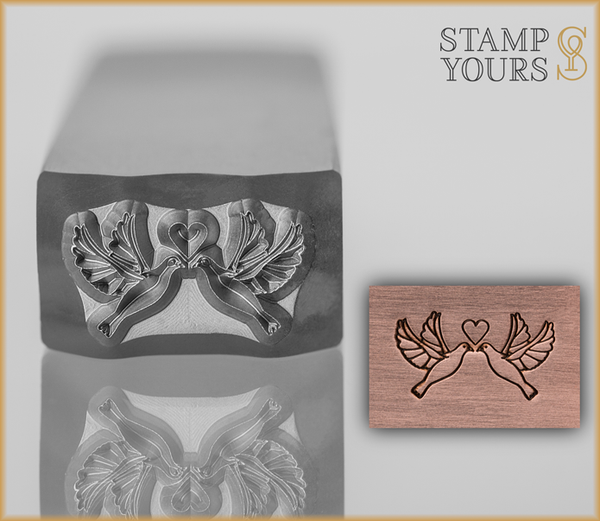 Lovey Doveys Design Stamp 12mm - Stamp Yours