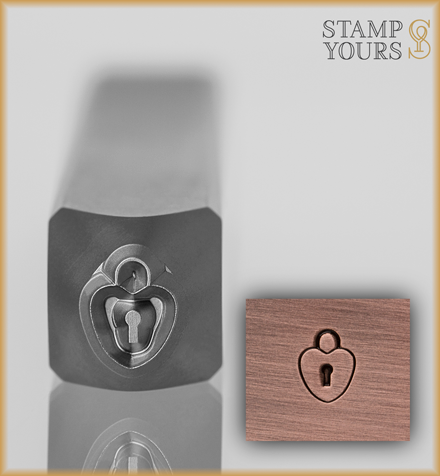Love Lock Design Stamp 5mm - Stamp Yours