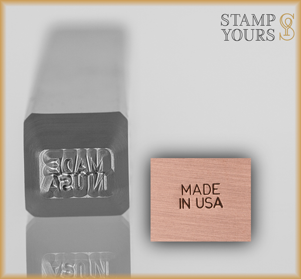 Made In USA Design Stamp 2.5mm - Stamp Yours
