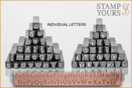 Eden 6mm -  Individual Letters - Stamp Yours