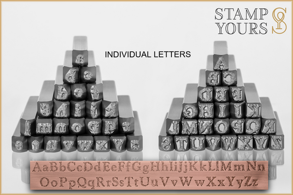 **New** Eden 6mm -  Individual Letters - Stamp Yours
