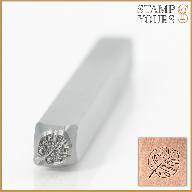 Monstera Leaf Metal Design Stamp for Jewelry By Stamp Yours