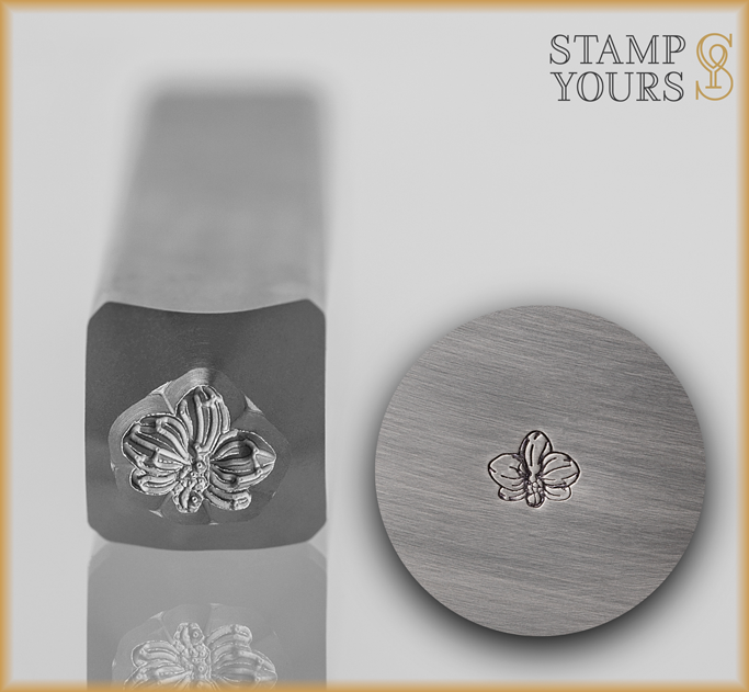 Orchid Flower Design Stamp - Stamp Yours
