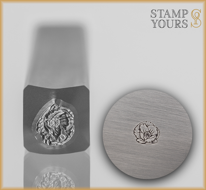 Poppy Flower Design Stamp - Stamp Yours