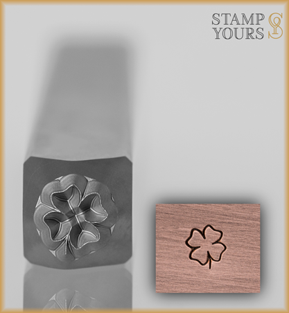 Shamrock Design Stamp 4mm - Stamp Yours