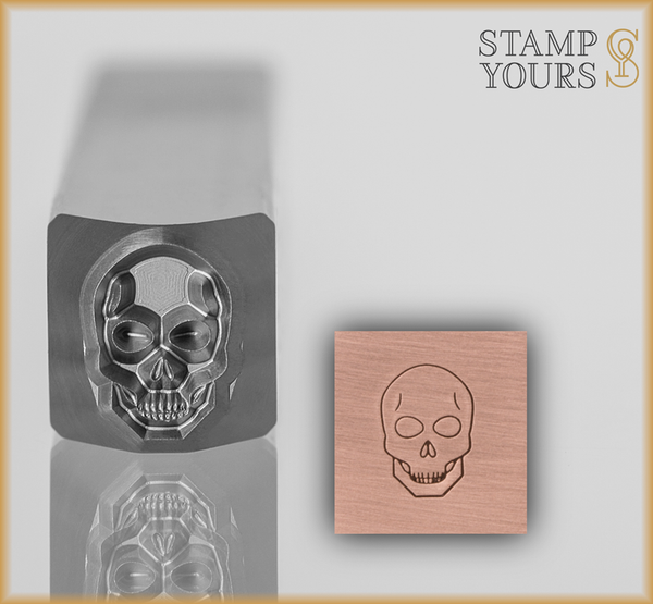Skull Design Stamp 8mm - Stamp Yours