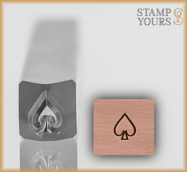 Spade Suit Design Stamp 4mm - Stamp Yours