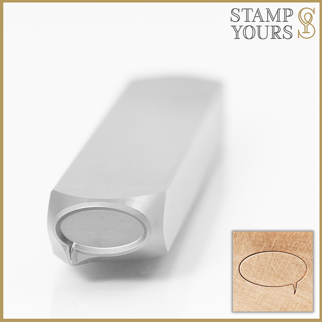 Simple Speech Bubble Metal Design Stamp for Jewelry and Stainless Steel By Stamp Yours