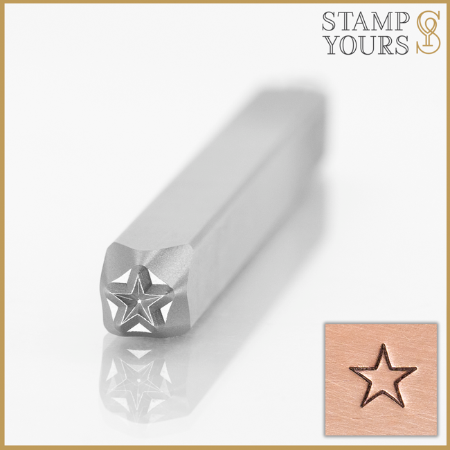 Star Outline Metal Stamp Design for Stainless Steel and Jewelry