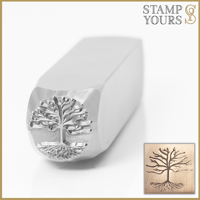 Tree of Life Metal Design Stamp for Jewelry Keychains and Stainless Steel By Stamp Yours