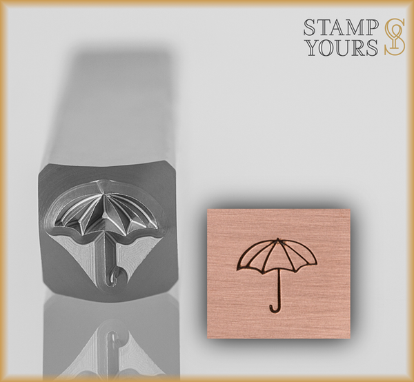 Umbrella Design Stamp 5.5mm - Stamp Yours