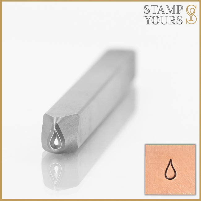 Water Drop Metal Stamp Design For Stainless Steel and Jewelry By Stamp Yours