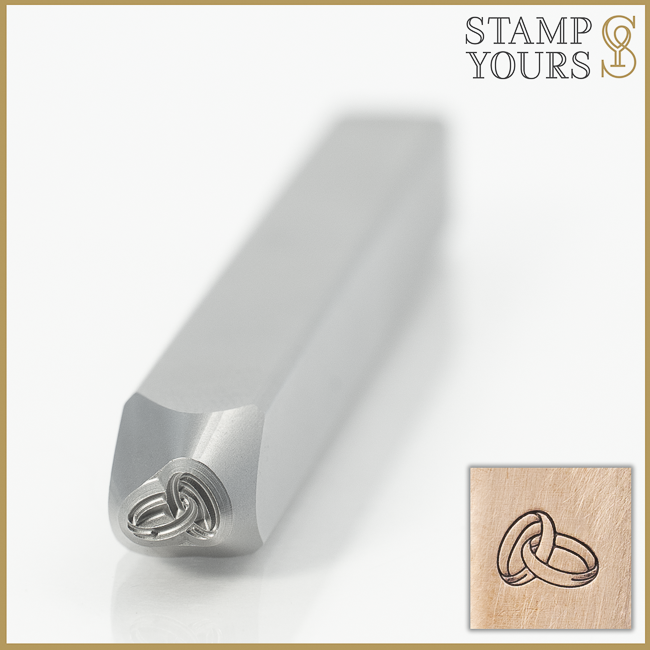 Interlocking Wedding Bands Metal Design Stamp for Jewelry By Stamp Yours