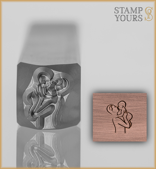 Father Holding Baby Design Stamp 8mm - Stamp Yours