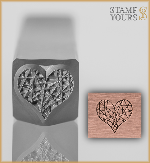 Static Heart Design Stamp 8mm - Stamp Yours