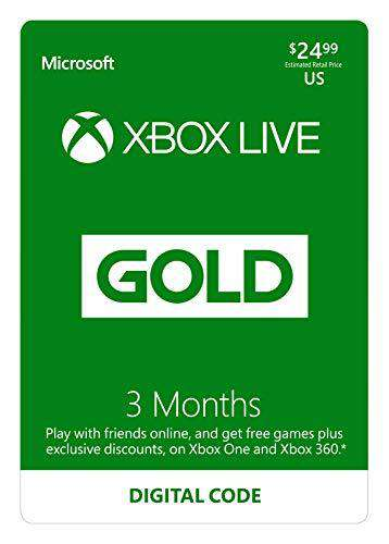 Xbox Live 3 Month Code [ Digital Code] Gold Subscription