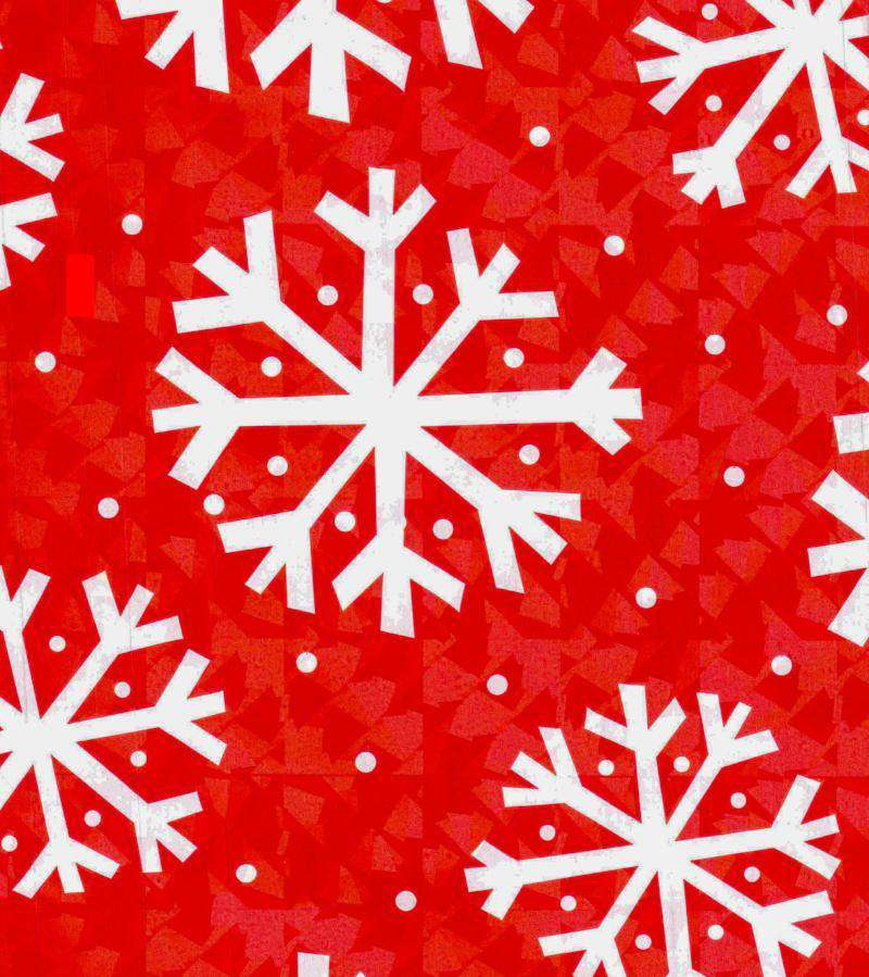 Red Snowflake Gift Wrap