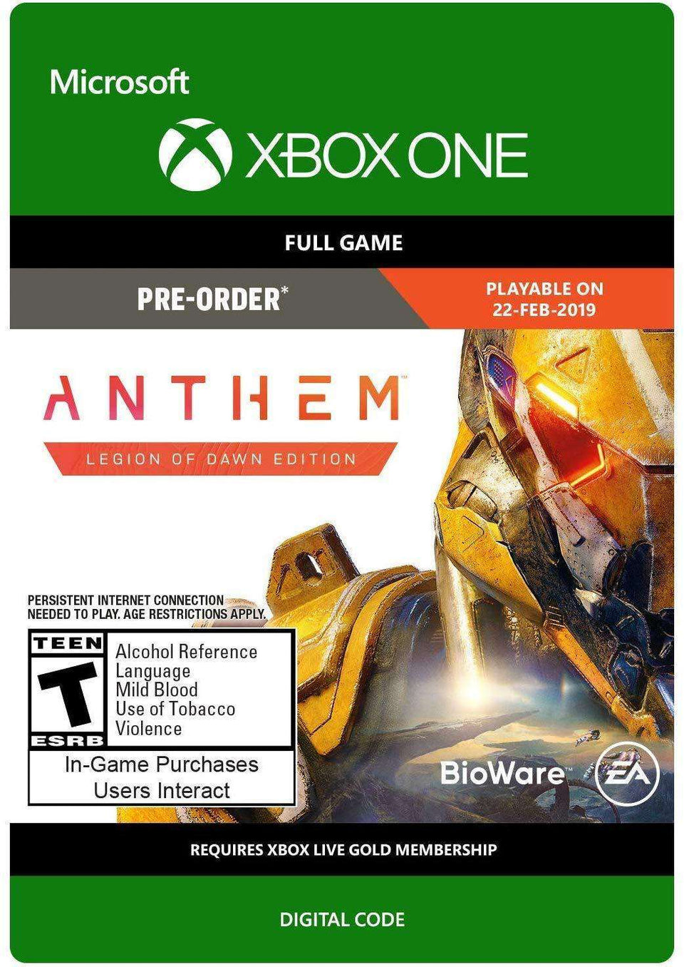 Anthem: Legion of Dawn Edition Xbox One [Digital Code]