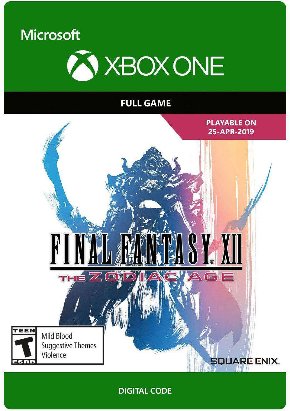 FINAL FANTASY XII The Zodiac Age Xbox One [Digital Code]