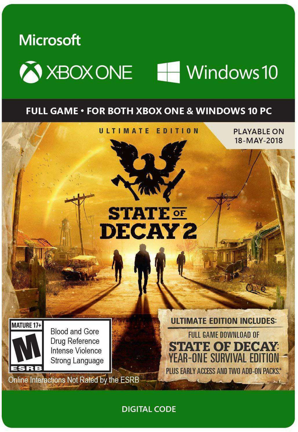State of Decay 2: Ultimate Edition Xbox One / Windows 10 [Digital Code]