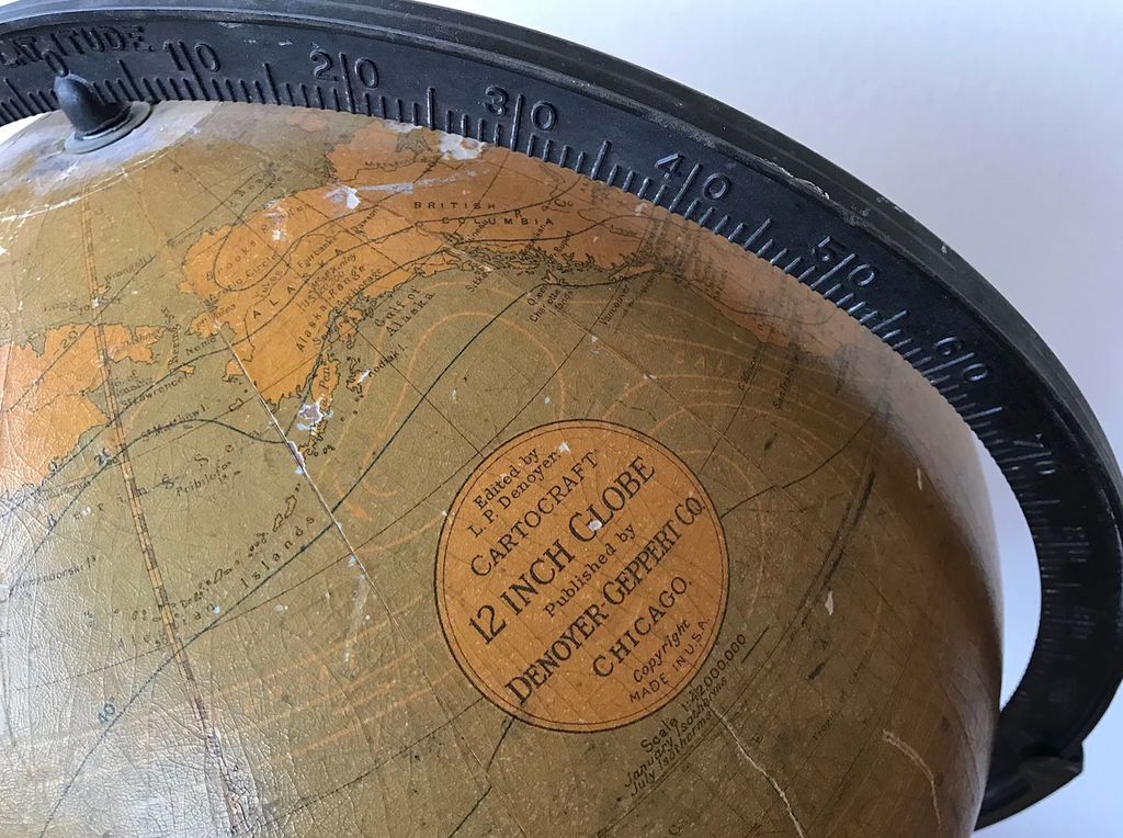 This Original Denoyer-Geppert Globe Was Created Before World War 2