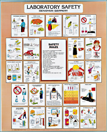 2027-12  Laboratory Safety Chart - Set of 3