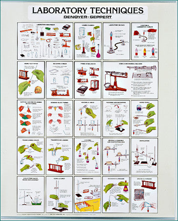 2028-12  Laboratory Techniques Chart - Set of 3