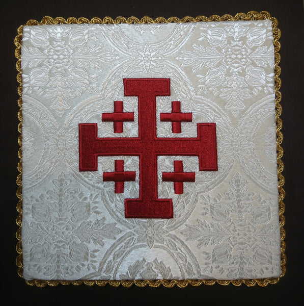 Jerusalem Cross Chalice Pall - Di Clara Catholic Vestments and Gifts