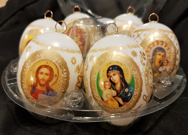 Russian Orthodox Decorated Christmas Eggs - Di Clara Catholic Vestments and Gifts