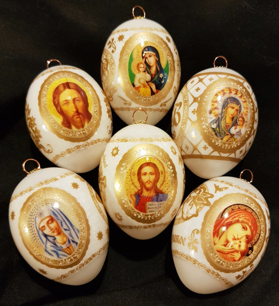 (Pre order for 2019 only) Russian Orthodox Decorated Christmas Eggs - Di Clara Catholic Vestments and Gifts