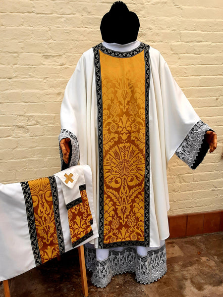 Gold Silk on Ivory Gothic Vestments