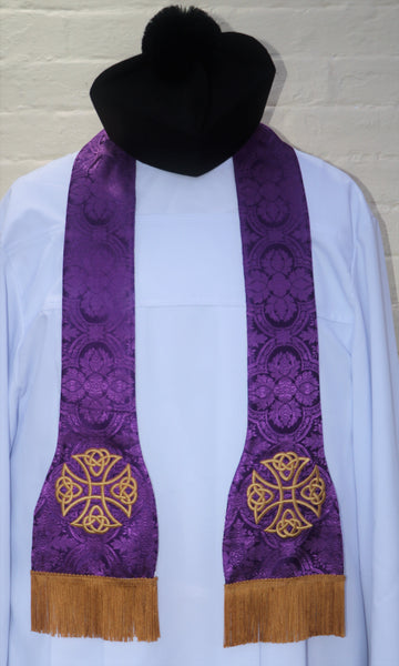 Reversible Traveling Stole - Di Clara Catholic Vestments and Gifts