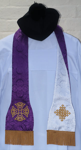 Reversible Traveling / Hospital Stole - Di Clara Catholic Vestments and Gifts
