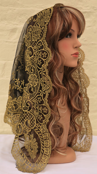 Spanish Gold Mantilla - Di Clara Catholic Vestments and Gifts