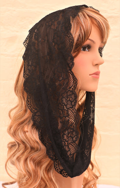 Black Mini Mantilla - Di Clara Catholic Vestments and Gifts